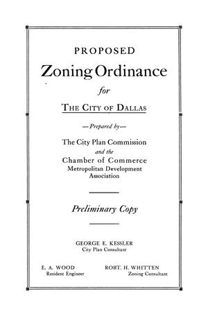 Primary view of object titled 'A Zoning Ordinance: For the City of Dallas'.