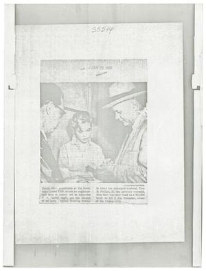 Primary view of object titled '[Newspaper Clipping and Photograph of Candy Barr]'.
