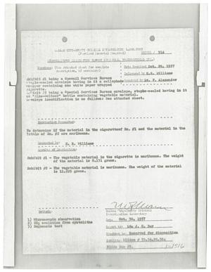 Primary view of object titled '[Dallas City-County Criminal Investigation Laboratory Report]'.