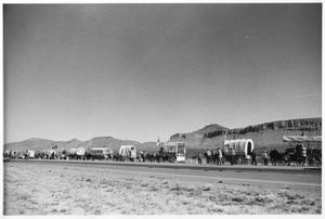 Primary view of object titled 'Texas Sesquicentennial Wagon Train in Van Horn'.