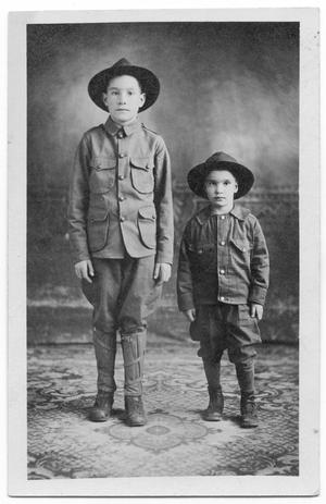 Primary view of object titled '[Young boys in uniforms]'.