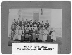 Primary view of object titled '[Mrs. S. C. Somerville's Class]'.