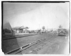 Primary view of object titled '[Lucky Corner filling station]'.