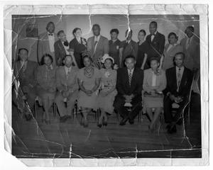 Primary view of object titled '[Cafeteria Employees' Banquet, c. 1942]'.
