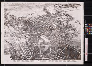 Primary view of object titled 'Bird's eye view of San Antonio : Bexar Co. Texas 1886 looking north east.'.