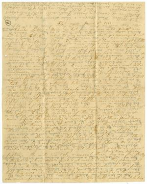 Primary view of object titled '[Letter from Elvira Moore to Charles Moore, Sabina Rucker, and Maria, March 9, 1862]'.