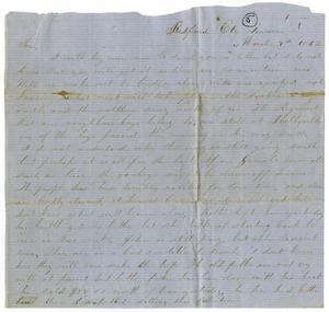 Primary view of object titled '[Letter from L. J. Wallace to Jo Wallace, March 9, 1862]'.