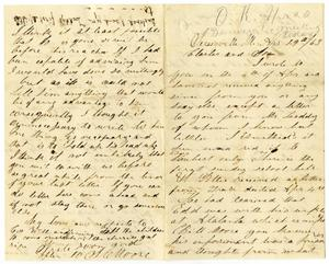 Primary view of [Letter from Josephus C. Moore to Charles and Jo Moore, April 19, 1863]