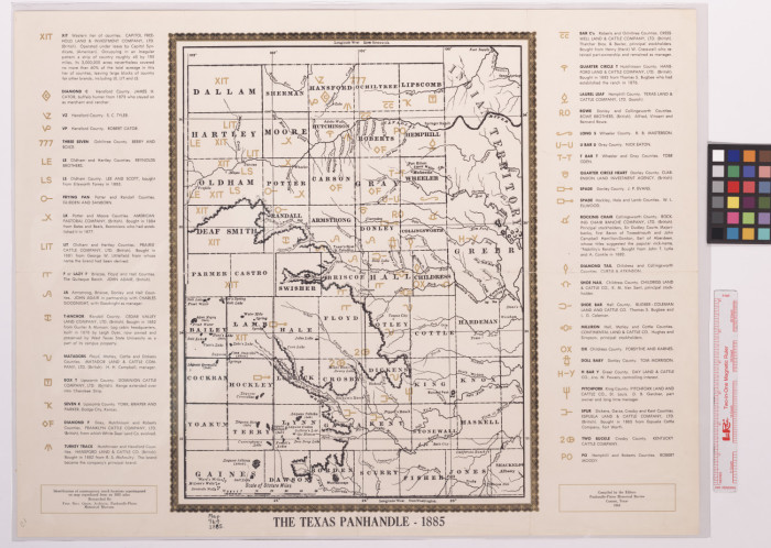 The Texas Panhandle : 1885 / compiled by the editors, Panhandle ...