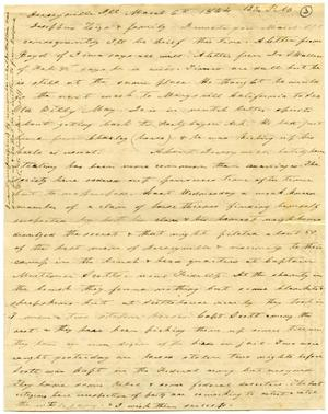 Primary view of object titled '[Letter from Charles Moore to Josephus Moore and family, March 6, 1864]'.