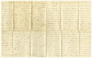 Primary view of object titled '[Letter from Charles Moore to Liza Moore, September 19, 1864]'.