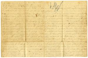 Primary view of object titled '[Letter from Bettie Wallace to Elvira Moore, 1861]'.