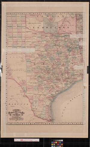Cram's railroad & township map of Texas.