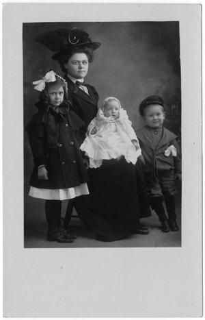 Primary view of object titled '[Family Portrait Postcard]'.