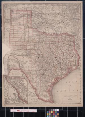 [Map of Texas and Indian Territory]
