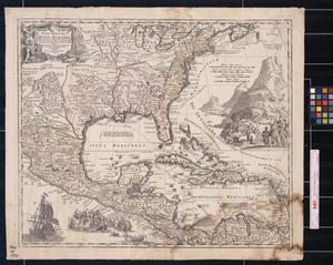 Primary view of Regni Mexicani seu Novæ Hispaniæ, Ludovicianæ, N. Angliæ, Carolinæ, Virginiæ et Pensylvaniæ, necnon insvlarvm archipelagi Mexicani in America Septentrionali
