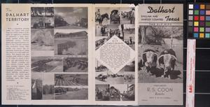 Primary view of object titled 'Dalhart, Texas : the XIT city : Dallam and Hartley Counties / compliments of R.S. Coon Ranches.'.