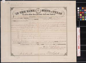 Primary view of object titled '[Land grant] : Austin, [Tex.], 1881 December 12.'.