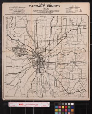 Road Map of Tarrant County, Texas