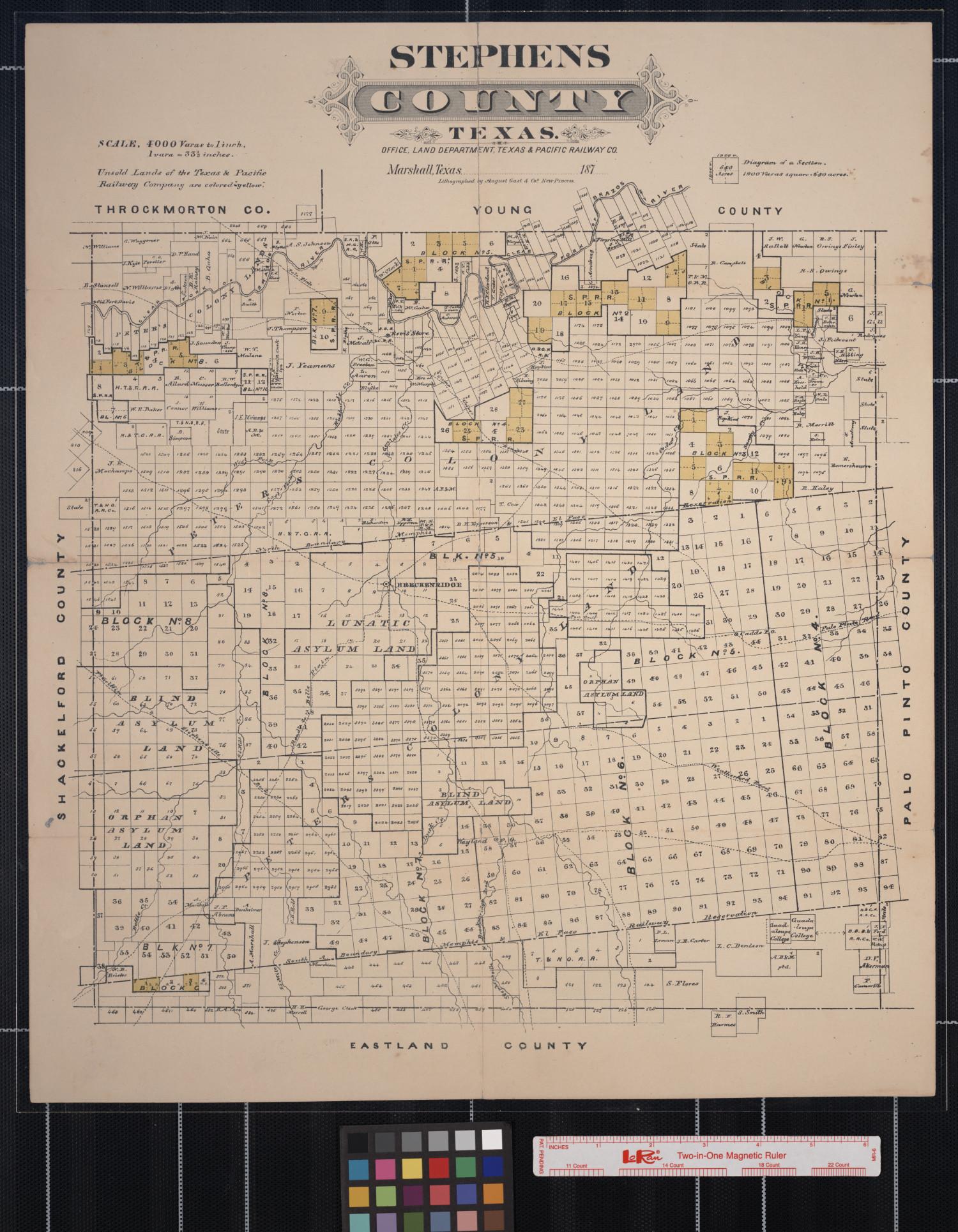 1870 Map Of Texas.Stephens County Texas The Portal To Texas History