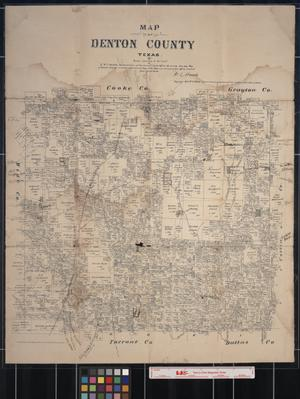 Primary view of object titled 'Map of Denton County, Texas'.
