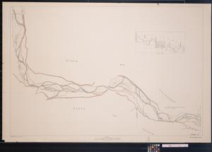 Primary view of object titled '[Map of the Texas and Oklahoma Boundary: Sheet 3]'.