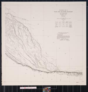 Primary view of object titled 'Topographic Map of Texas and Oklahoma Boundary: Fort Auger Area, Map Number 5 (In Four Sheets)'.