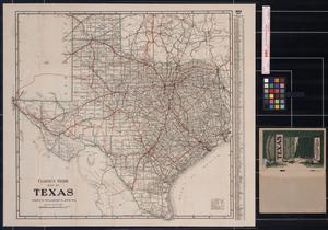 Clason's Guide: Map of Texas