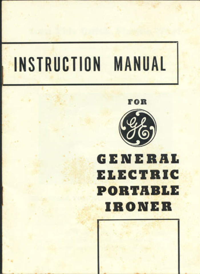 instruction manual for ge general electric portable ironer cover rh texashistory unt edu general electric dishwasher user manual general electric oven user manual