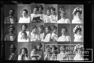 [In-camera composite of several photographs of people, including Gertrude Snearly Kelley]