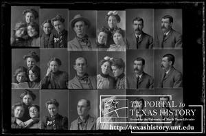 Primary view of object titled '[In-camera composite of several photographs of people]'.