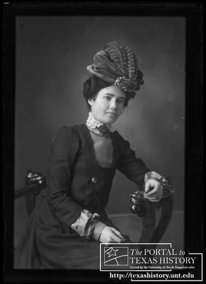 Primary view of object titled '[Alice Snearly in dark dress]'.