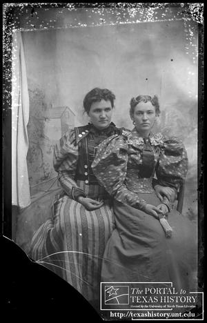 Primary view of object titled '[Two young women]'.