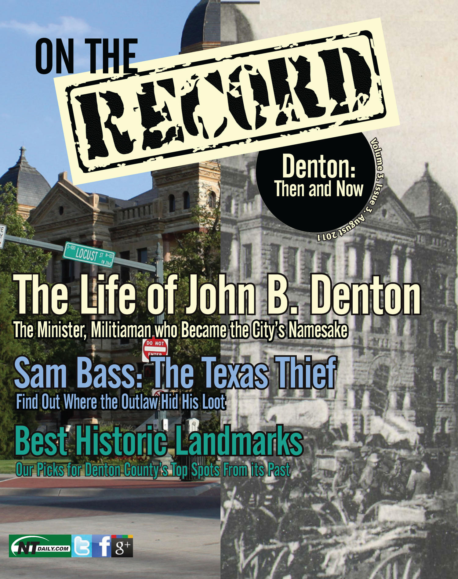 On The Record, Vol. 3, No. 3, Ed. 1 Friday, August 12, 2011                                                                                                      [Sequence #]: 1 of 44