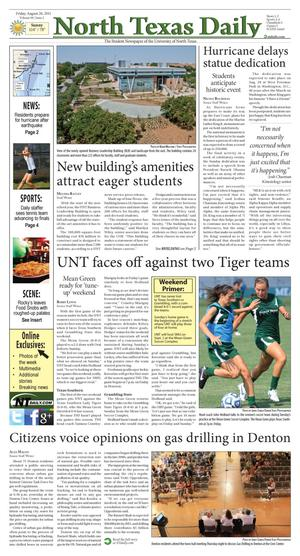 North Texas Daily (Denton, Tex.), Vol. 98, No. 2, Ed. 1 Friday, August 26, 2011