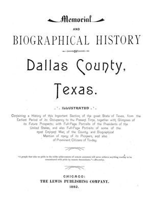 Primary view of object titled 'Memorial and Biographical History of Dallas County, Texas.'.