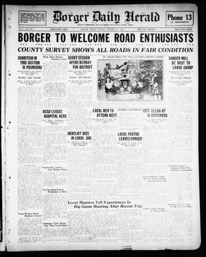 Primary view of object titled 'Borger Daily Herald (Borger, Tex.), Vol. 2, No. 283, Ed. 1 Sunday, October 21, 1928'.