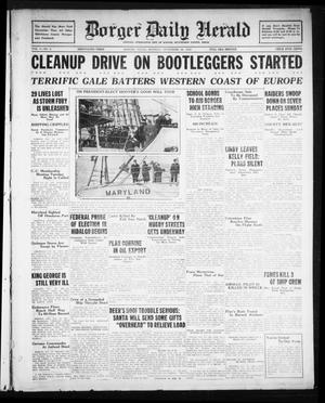 Primary view of object titled 'Borger Daily Herald (Borger, Tex.), Vol. 3, No. 2, Ed. 1 Monday, November 26, 1928'.