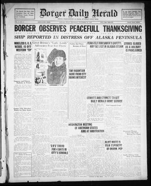 Borger Daily Herald (Borger, Tex.), Vol. 3, No. 5, Ed. 1 Thursday, November 29, 1928