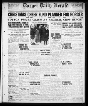 Primary view of object titled 'Borger Daily Herald (Borger, Tex.), Vol. 3, No. 13, Ed. 1 Sunday, December 9, 1928'.
