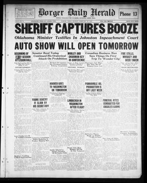 Primary view of Borger Daily Herald (Borger, Tex.), Vol. 3, No. 74, Ed. 1 Monday, February 18, 1929