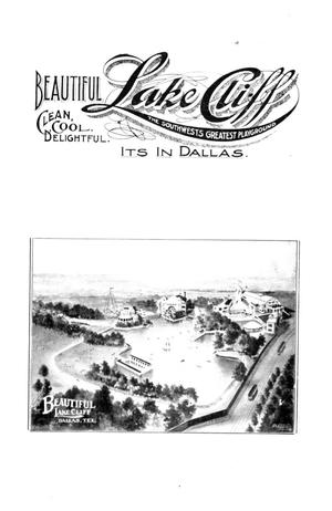 Primary view of object titled 'Beautiful Lake Cliff, clean, cool, delightful: the Southwest's greatest playground; it's in Dallas'.