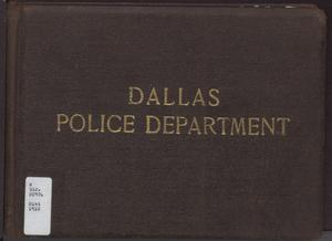 Primary view of object titled 'Dallas Police Department'.