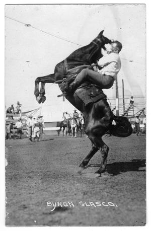 Primary view of object titled 'Byron Glasco, Partner in Rodeo, c. 1920'.