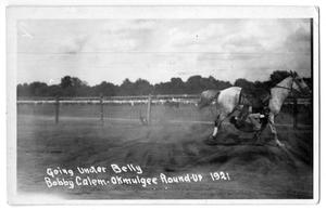 Primary view of object titled 'Going Under Belly, Bob Calen - Okmulgee, Oklahoma, 1921'.