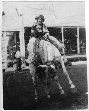 Primary view of object titled 'Ruth Roach Riding a Bucking Bronco'.