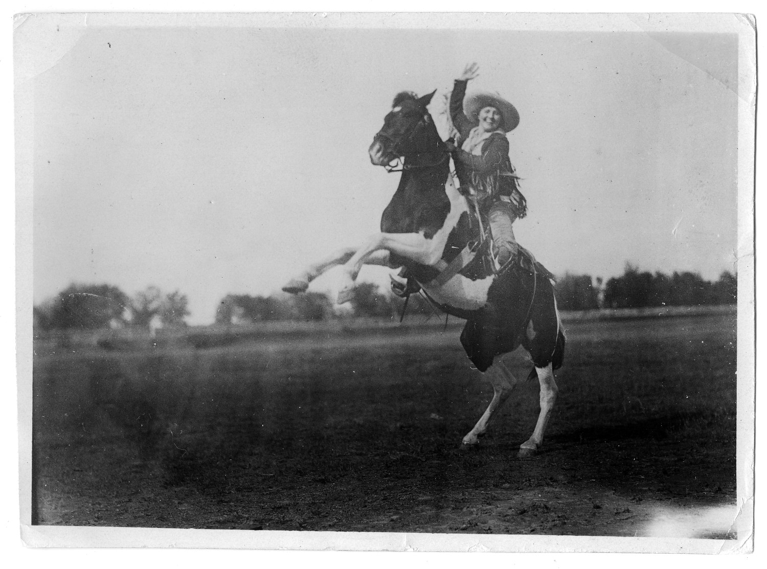 Ruth Roach On A Rearing Horse The Portal To Texas History