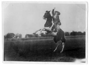 [Ruth Roach on a rearing horse, c. 1927]