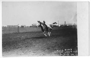 Primary view of object titled 'Ruth Roach, champion lady rider, July 1920'.