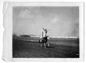 Primary view of object titled '[Ruth Roach, Woman Champion Trick Rider]'.